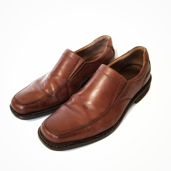 Ecco Other - Ecco Men's Brown Leather Loafers Shoes 44